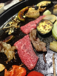Hida-gyu: Beef on the grill. Takayama, Japan 飛騨牛