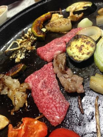 Hida-gyu: Beef on the grill. Takayama, Japan 飛騨牛