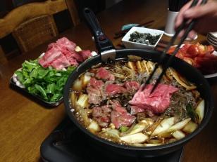 Hida-gyu: Sukiyak. Beef of Takayama, Japan 飛騨牛